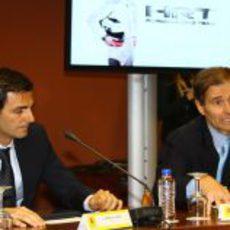 Luis Pérez-Sala habla en la presentación de Pedro con HRT
