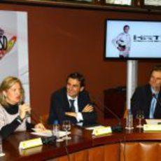 Presentación de De la Rosa como piloto de HRT