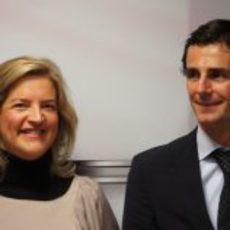 Matilde García y Pedro de la Rosa en el CSD