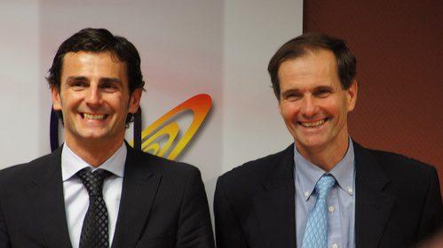 Pedro de la Rosa y Luis Pérez-Sala muy sonrientes