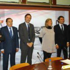 Responsables del HRT, de la RFEdA, del CSD y Pedro de la Rosa