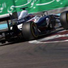 Mirko Bortolotti rueda con Williams en el último día de test