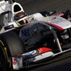 Esteban Gutiérrez en Yas Marina con Sauber
