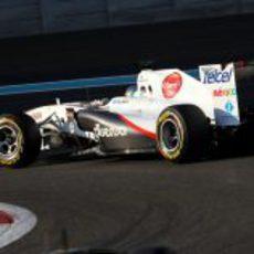 Gutiérrez en pista con el Sauber C30