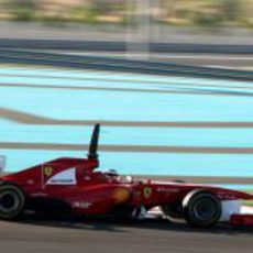 Jules Bianchi en el 150º Italia en los test de Yas Marina