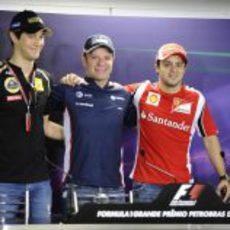 Los tres pilotos brasileños de la parrilla 2011