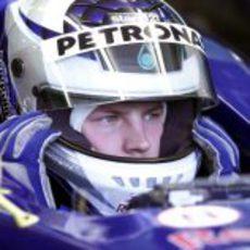 Kimi Räikkönen se prepara para rodar con su primer monoplaza de Fórmula 1