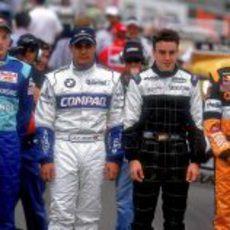 Räikkönen (Sauber), Montoya (Williams), Alonso (Minardi) y Bernoldi (Arrows) debutan en el GP de Australia 2001