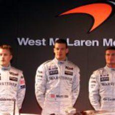 McLaren presenta a sus pilotos para la temporada 2002