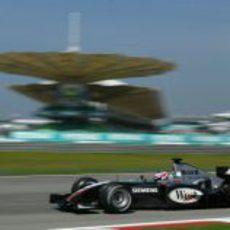 Kimi Räikkönen en el GP de Malasia 2004