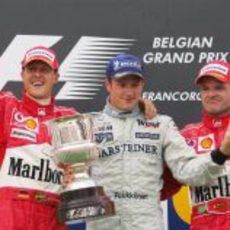 Victoria de Kimi Räikkönen en el GP de Bélgica 2004