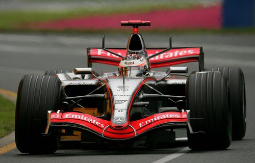 Kimi Räikkönen con el MP4-21 en el GP de Australia 2006