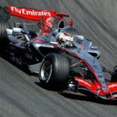 Kimi Räikkönen en los entrenamientos de Barcelona de 2006