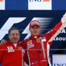 Primera victoria de Kimi Räikkönen como piloto de Ferrari