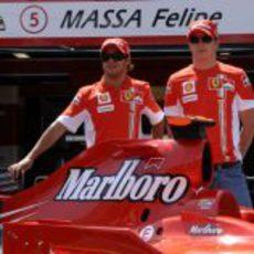 Felipe Massa y Kimi Räikkönen en el GP de Mónaco 2007