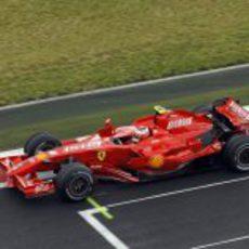 Kimi Räikkönen en el GP de Francia 2007