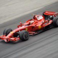 Kimi Räikkönen en el GP de Malasia 2008
