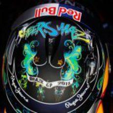Casco especial de Sebastian Vettel para el GP de Brasil 2011