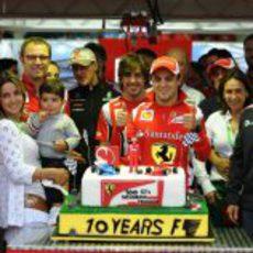 Felipe Massa celebra sus 10 años en la Fórmula 1