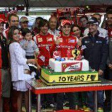 Felipe Massa cumple 100 GP junto al equipo Ferrari