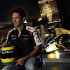 El casco de Bruno Senna recuerda al de su tío en Williams