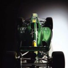 Caterham CT01, vista posterior