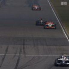 Nakajima a final de recta