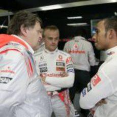 Hamilton, Haug y Kovalainen
