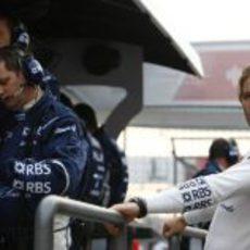 Rosberg en el muro