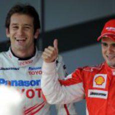 Trulli y Massa los dos primeros