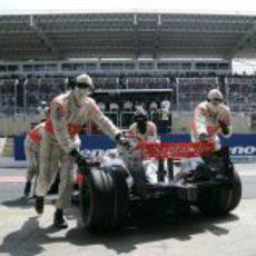 Los ingenieros de McLaren