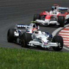Kubica seguido de Trulli