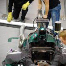 Encendido del motor del Caterham CT01