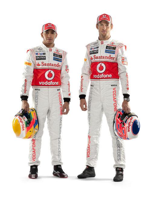Lewis Hamilton y Jenson Button, pilotos de McLaren en 2012
