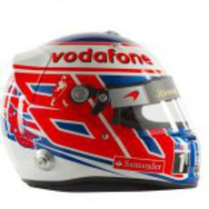 Casco de Jenson Button para 2012 (lateral)