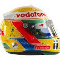 Casco de Lewis Hamilton para 2012 (lateral)