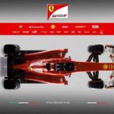 Ferrari F2012, vista superior