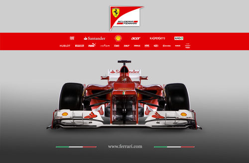 Ferrari F2012, vista frontal