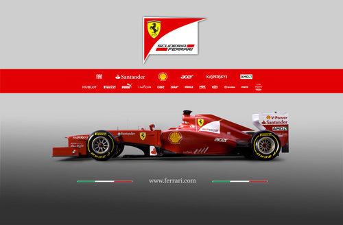 Ferrari F2012, vista lateral