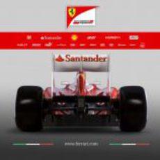 Ferrari F2012, vista trasera