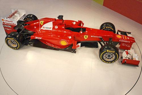 Vista superior del Ferrari F2012