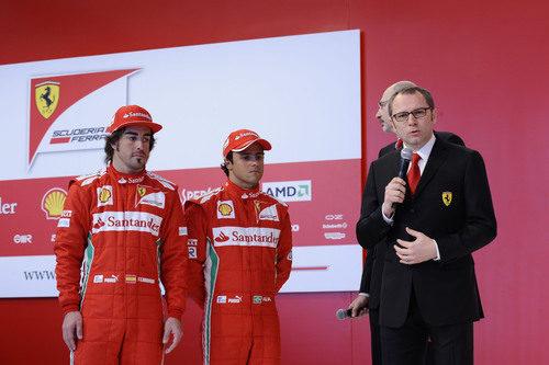 Stefano Domenicali habla en la presentación del F2012