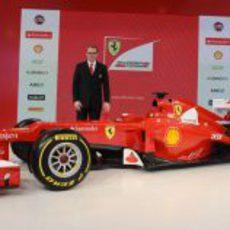 Stefano Domenicali y el Ferrari F2012