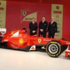 Pat Fry, Nikolas Tombazis, Luca Marmorini y el Ferrari F2012