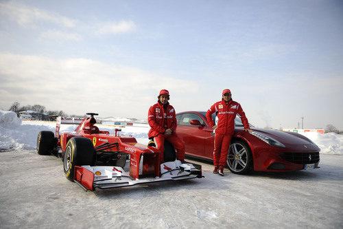 Alonso, Massa, el F2012 y el Ferrari FF