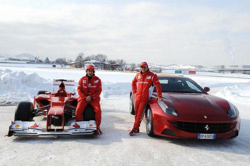 Alonso y el F2012; y Massa y el FF