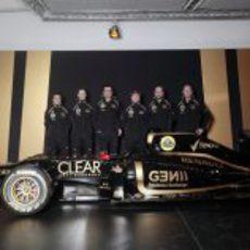 Los pilotos, los jefes de equipo y el Lotus E20