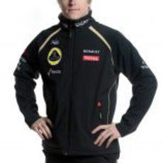Räikkönen con la gorra del Lotus F1 Team