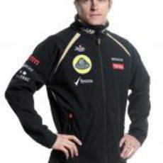 Kimi Räikkönen con la equipación de Lotus