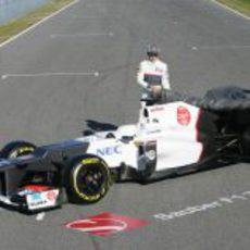 Pérez y Kobayashi presentan en Sauber C31